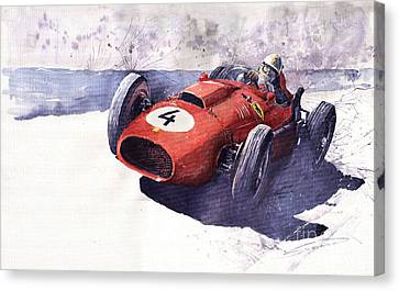 Ferrari 246 Mike Hawthorn Canvas Print by Yuriy  Shevchuk