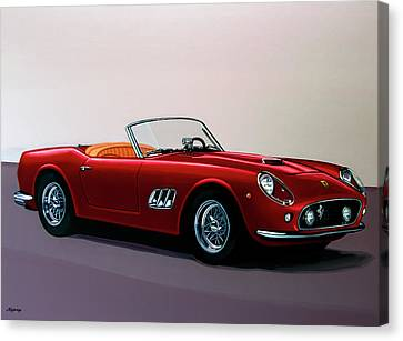 Ferrari 250 Gt California Spyder 1957 Painting Canvas Print by Paul Meijering
