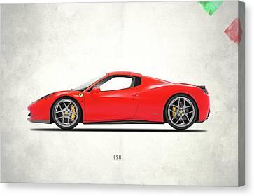 Ferrari 458 Italia Canvas Print by Mark Rogan