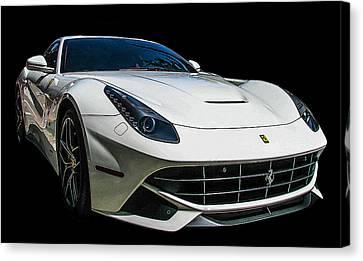 Ferrari F12 Berlinetta In White Canvas Print by Samuel Sheats