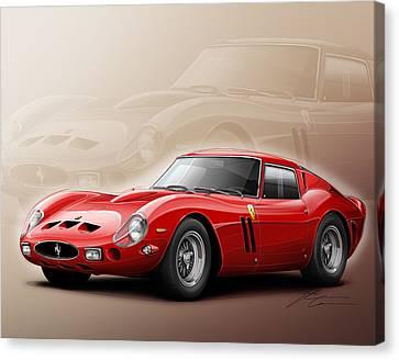 Ferrari Gto 1962 Canvas Print by Etienne Carignan