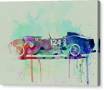 Ferrari Testa Rossa Watercolor 2 Canvas Print by Naxart Studio