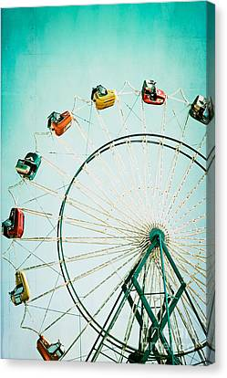 Ferris Wheel 2 Canvas Print by Kim Fearheiley