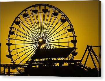 Ferris Wheel Canvas Print by Garry Gay