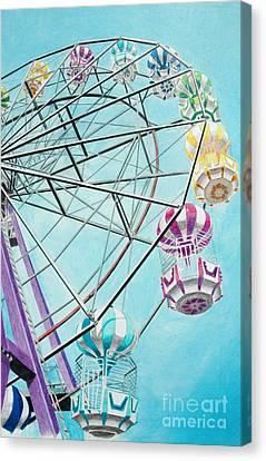 Ferris Wheel View Canvas Print by Glenda Zuckerman