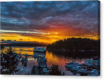 Ferry Boat Sunrise Canvas Print by Thomas Ashcraft
