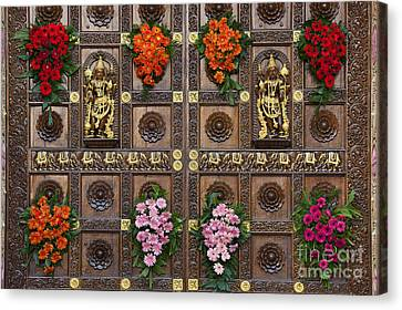 Festival Gopuram Gates Canvas Print by Tim Gainey