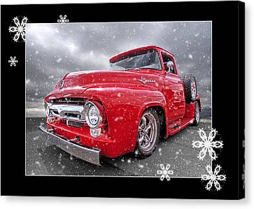 Festive Red F100 Canvas Print by Gill Billington