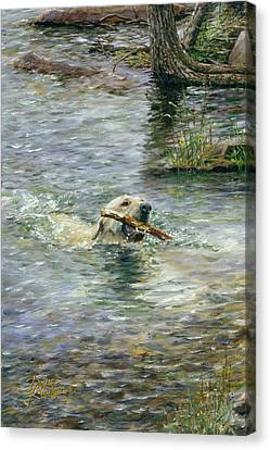 Fetch Canvas Print by Doug Kreuger