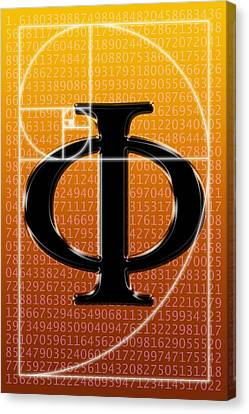 Fibonacci Spiral And Phi, Artwork Canvas Print by Seymour