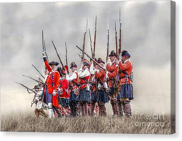 Field Of Battle The Charge Canvas Print by Randy Steele