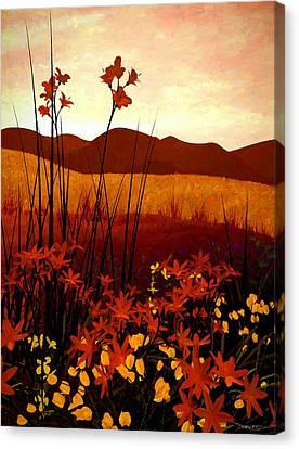 Field Of Flowers Canvas Print by Cynthia Decker