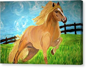 Field Runner Canvas Print by Rebecca Wood