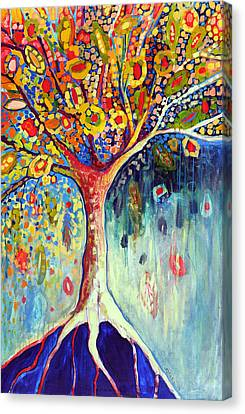 Fiesta Tree Canvas Print by Jennifer Lommers
