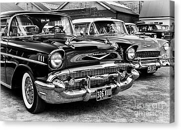 Fifties Chevy Canvas Print by Tim Gainey