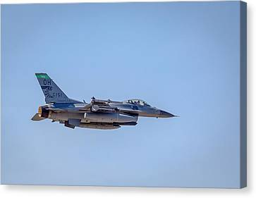 Fighting Falcons F-16 Ohio Air National Guard Canvas Print by Jack R Perry