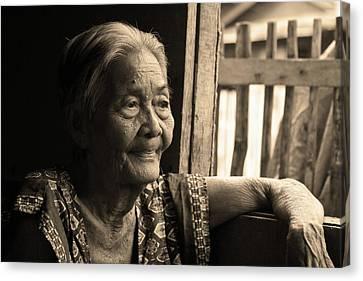 Filipino Lola - Image 14 Sepia Canvas Print by James BO  Insogna