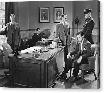 Film Still Office Arrest Canvas Print by Underwood Archives