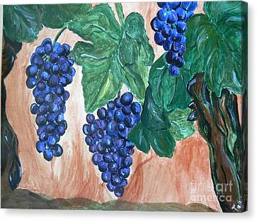 Finally Time For Wine Canvas Print by Tobi Cooper