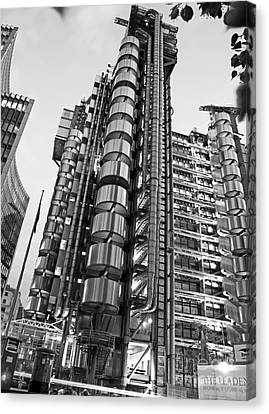 Finance The Lloyds Building In The City Canvas Print by Chris Smith