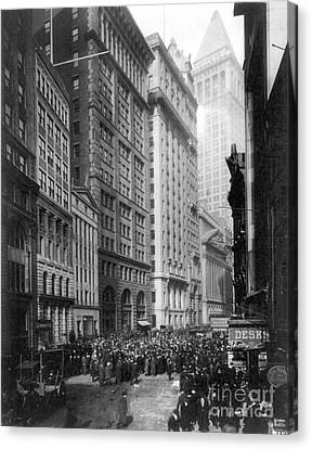 Financial Center, C1920 Canvas Print by Granger