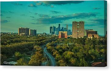 Fine Art America Pic 118 Houston Skyline Canvas Print by Darrell Taylor
