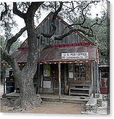 Fine Art America Pic 130 Luckenbach Texas Canvas Print by Darrell Taylor
