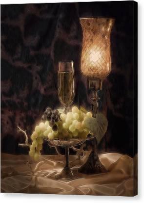 Fine Wine Still Life Canvas Print by Tom Mc Nemar