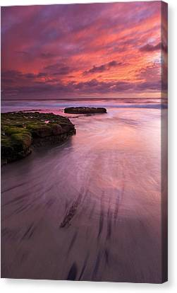 Fingers Of The Tide Canvas Print by Mike  Dawson
