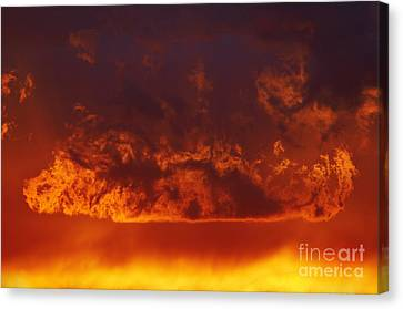 Fire Clouds Canvas Print by Michal Boubin