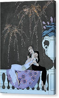 Fire Canvas Print by Georges Barbier