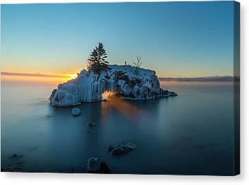 Fire Hole // North Shore, Lake Superior  Canvas Print by Nicholas Parker