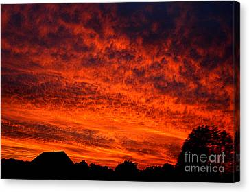 Fire In The Sky Canvas Print by Clayton Bruster