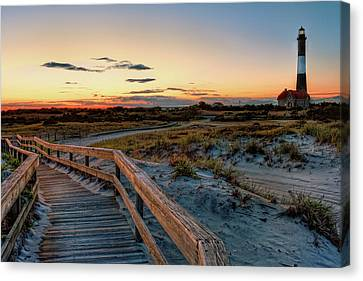 Fire Island Lighthouse At Robert Moses State Park Canvas Print by Jim Dohms