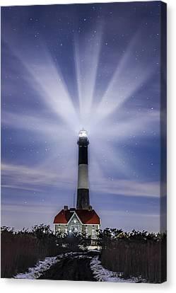 Fire Island Lighthouse Twilight Canvas Print by Susan Candelario