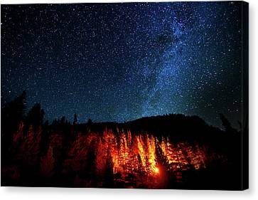 Fire On The Mountain Canvas Print by Mark Andrew Thomas