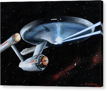 Fire Phasers Canvas Print by Kim Lockman