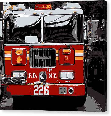 Fire Truck Color 6 Canvas Print by Scott Kelley