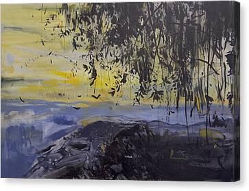 Fireflies Nocturne Canvas Print by Calum McClure