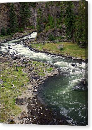 Firehole River 2 Canvas Print by Marty Koch