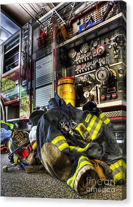 Fireman - Always Ready For Duty Canvas Print by Lee Dos Santos