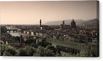 Firenze At Sunset Canvas Print by Andrew Soundarajan