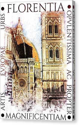 Firenze Magnifica Iv Canvas Print by Diana Van