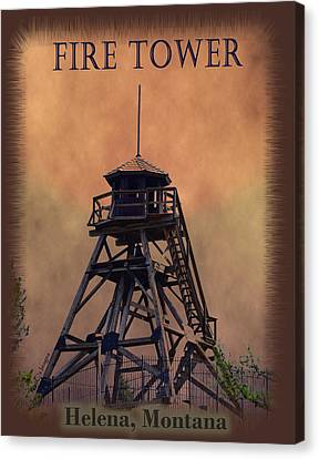 Firetower Poster Canvas Print by Kae Cheatham