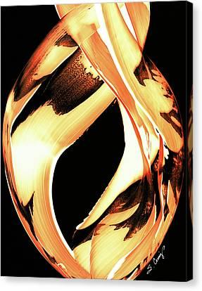 Firewater 1 - Buy Orange Fire Art Prints Canvas Print by Sharon Cummings