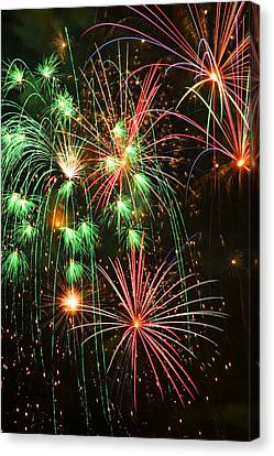 Fireworks 4th Of July Canvas Print by Garry Gay