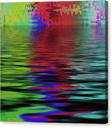 Fireworks Abstract Canvas Print by Bonnie Bruno