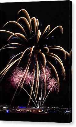 Fireworks Festivities Canvas Print by Andrew Soundarajan