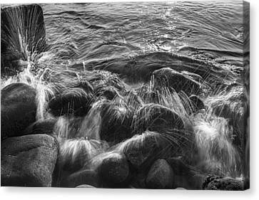 Fireworks On The Rocks II Canvas Print by Jon Glaser