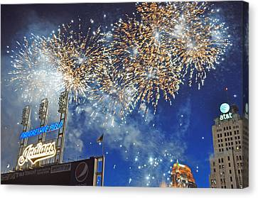 Fireworks Canvas Print by Patrick Friery